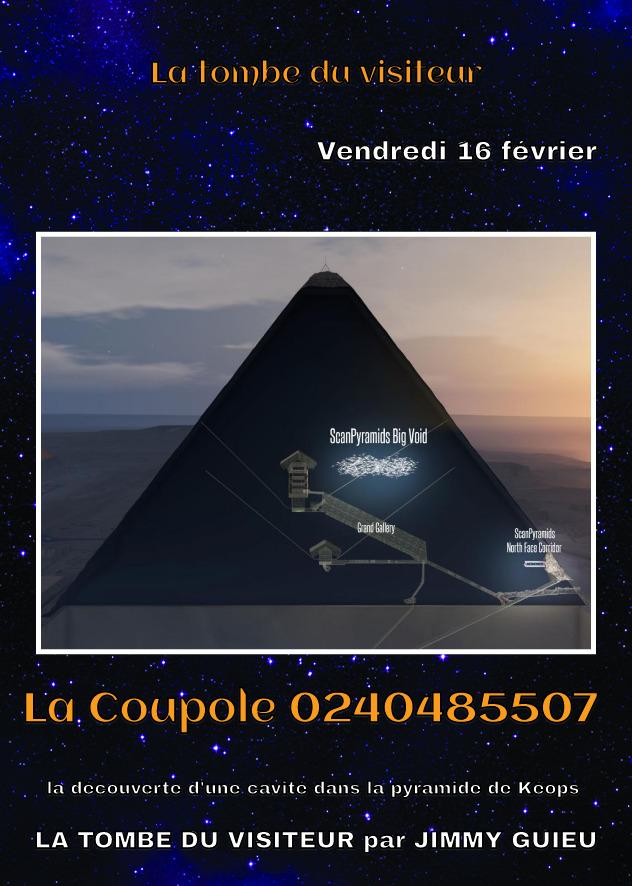 Nantes –  Repas Ufologique du vendredi 16 février, découverte d'une cavité dans la pyramide de Khéops la tombe d'un visiteur?