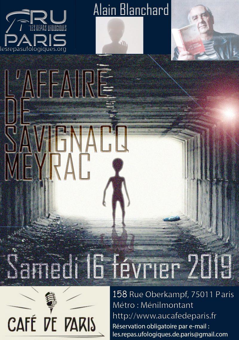 ALAIN BLANCHARD AU REPAS UFOLOGIQUE DE PARIS