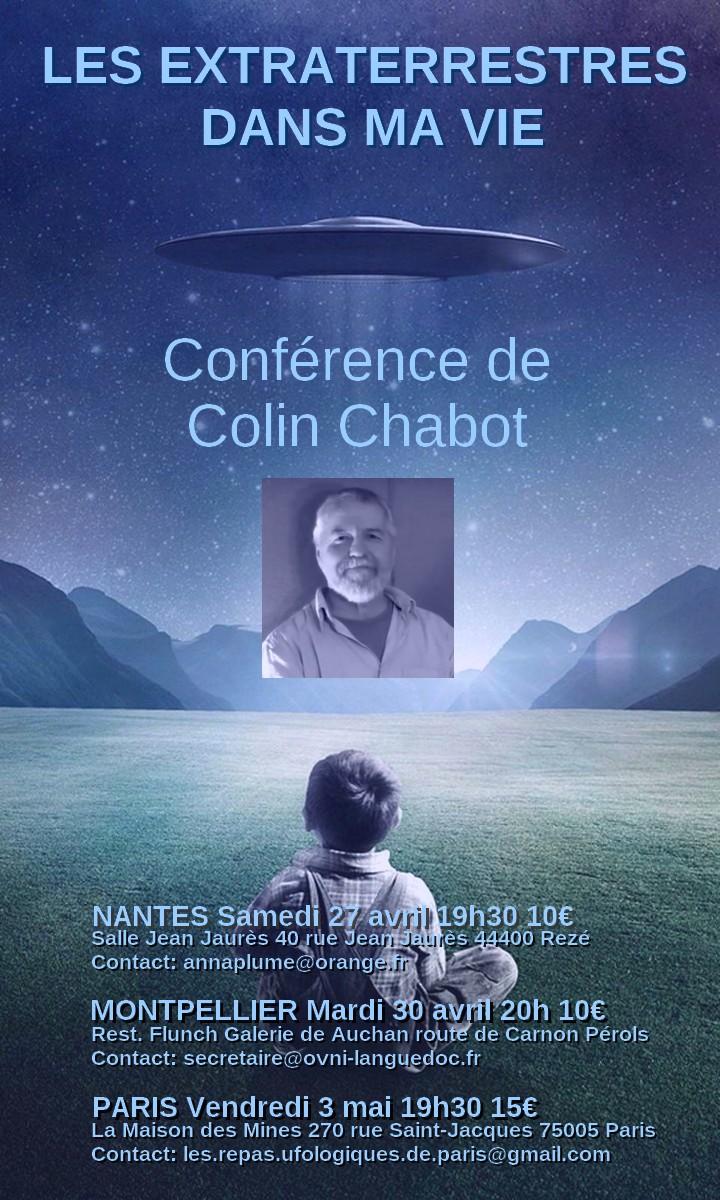 CONFÉRENCES EXCEPTIONNELLE DE COLIN CHABOT EN FRANCE