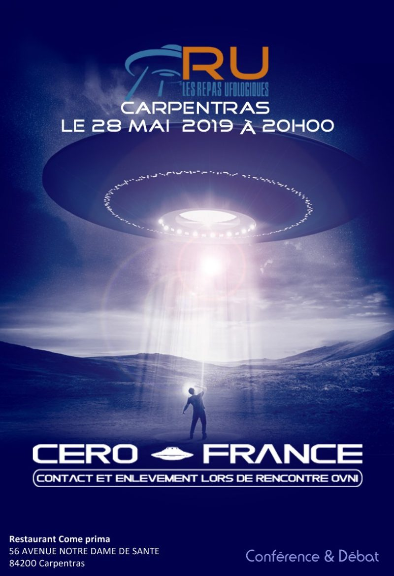 The Abduction Phenomen et le Cero-France le 28 Mai 2019