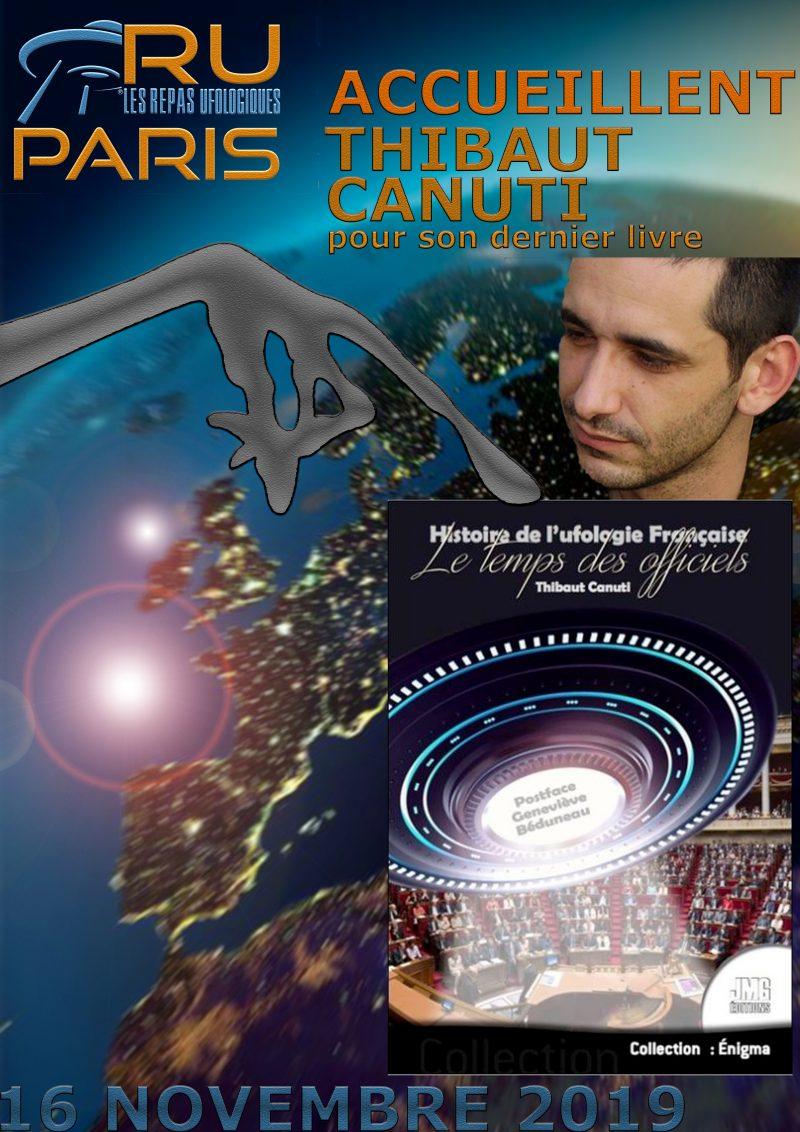 THIBAUT CANUTI AUX REPAS UFOLOGIQUES DE PARIS