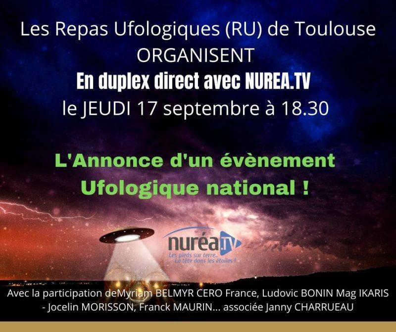 Evénement du 17 septembre 2020 en duplex avec Nuréa TV !